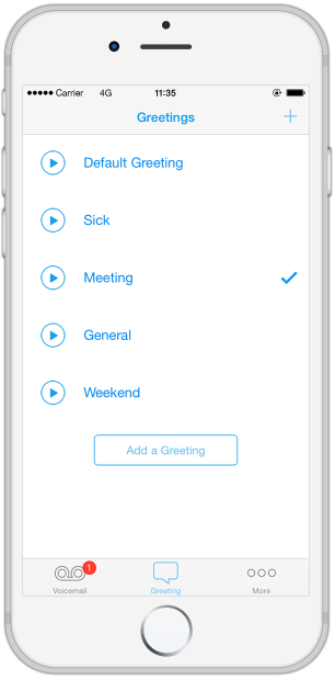 Touch voicemail voicemail app for your iphone now you can create multiple greetings and match them to your occasion with a single touch m4hsunfo